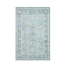 Safavieh Gwen Area Rug ($90) ❤ liked on Polyvore featuring home, rugs, green, green floral rug, patterned area rugs, patterned rugs, safavieh rugs and low pile rug