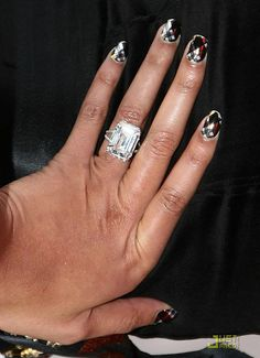 beyonce's 18 carrat flawless diamond engagement ring from jay-z. he put a huge ring on it! no wonder she wrote a song!