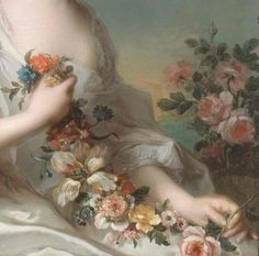 Jean Marc Nattier (1685-1766) Portrait of a Lady 1738 (detail)