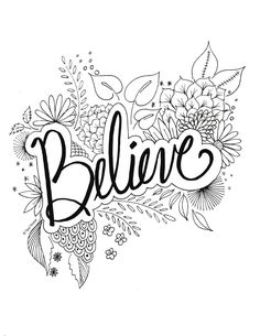 5 Quote Coloring Pages You Can Print And Color On Your Free Time Coloring Pages For Grown Ups, Love Coloring Pages, Printable Adult Coloring Pages, Free Coloring, Coloring Books, Coloring Sheets, Coloring Pages For Adults, Coloring Letters, Kunstjournal Inspiration