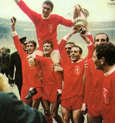Liverpool with the FA Cup in 1965