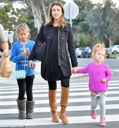 Mom life: Jessica Alba had a girls day out with her two daughters: (L) seven-year-old Honor Marie and (R) four-year-old Haven Garner Warren on January 16, 2016