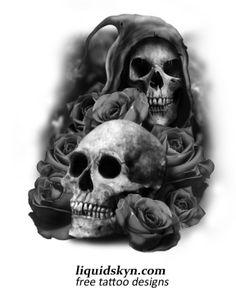 skull tattoos for men | FREE SKULL TATTOO DESIGNS - Free Tattoo Designs