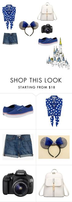 """""""Happy 60th Anniversary, Disneyland!"""" by luvbug62900 ❤ liked on Polyvore featuring Vans, Madewell, Eos, PolkaDots, vans and disney"""