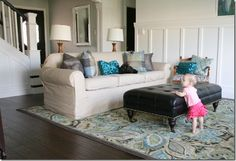 Rug like this for main living area to bring out both the aqua and gray and white?