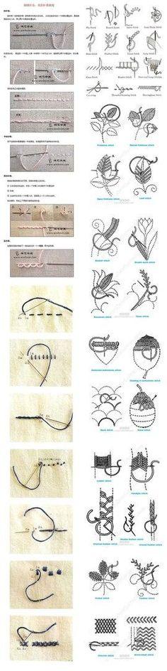 Вышивайте шедевры с помощью простых швов