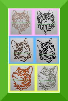 Kittes Cat Set of 3 Digitized Machine Embroidery by WingsicalWhims