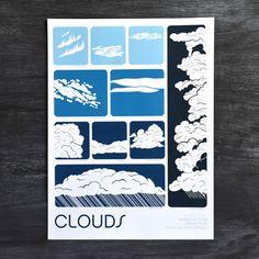 Clouds Print by Brainstorm