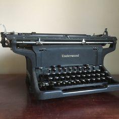 Antique 1940s Underwood Typewriter. Underwood by ironboundvintage