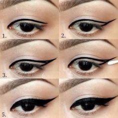 Eyeliner tutorial step by step