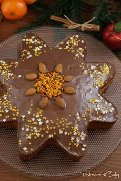 Torta Stella Di Natale.Torta Stella Di Natale Speziata Al Cioccolato Morbida Lucia Creme