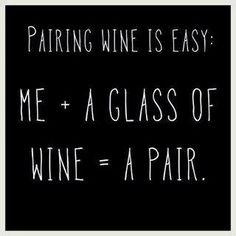 So easy! Wine Pairing!!