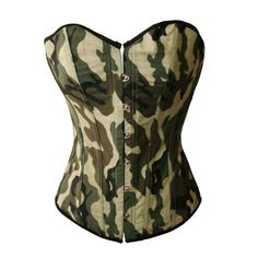 Amazon.com: Bslingerie Womens Camo Green Fashion Boned Corset (L): Clothing