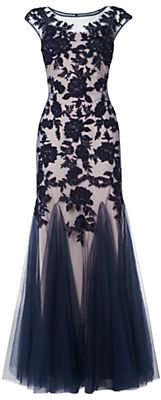 Phase Eight Collection 8 Rita Tulle Floral Dress, Nude/Midnight on shopstyle.co.uk