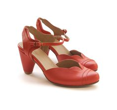 New PumpkinRed Daisy Shoes  Handmade Leather by LieblingShoes, ₪810.00