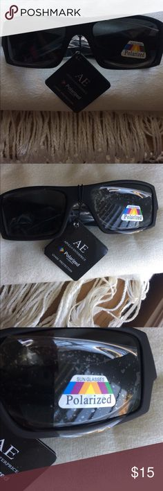POLARIZED SUNGLASSES Brand new. Still have plastic on lenses. Comes with light gray carrying pouch. Frames are matte black. Very comfortable brand. Apollo Enterprise Accessories Glasses