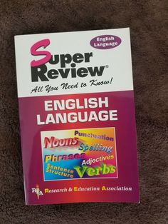 Super Reviews Study Guides: English Language by Research and Education Associati Study Guides, Research, English Language, Spelling, Education, Closet, Ebay, Search, Armoire