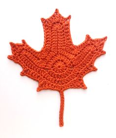 I wanted to crochet some pretty Fall leaves but surprisingly there are few realistic leaf patterns out there.  I took a little time and made...