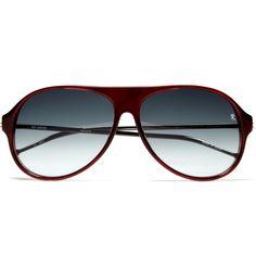 ff4a3d38b9 Raf Simons acetate aviators. Appealing colour contrast.- nice combo frame  Latest Sunglasses