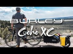 The Coho XC single wheel bike cargo trailer brings durability and thoughtful design to gear-hauling for bike camping, touring and singletrack riding. Bike Cargo Trailer, Cargo Trailers, Mountain Bike Shoes, Mountain Biking, Road Cycling, Cycling Bikes, Road Bike Wheels, Road Bike Women, Travel Tours