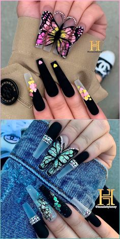 Bling Acrylic Nails, Acrylic Nails Coffin Short, Best Acrylic Nails, Rhinestone Nails, Bling Nails, Swag Nails, Rhinestone Nail Designs, Stiletto Nails Glitter, Disney Acrylic Nails