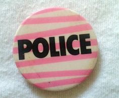 RARE - VINTAGE POLICE (STING) BADGE Badge Logo, Button Badge, Pin And Patches, Pin Badges, Music Stuff, Police, Perfume Bottles, Legends, Handmade