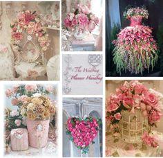 Ideas & Inspiration: Shabby Chic Wedding Flowers (photos I Heart Much Shabby Chic)