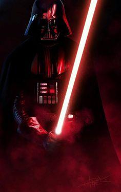 star wars vader sabre de luz vermelho
