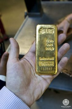 watchanish:  Pure gold ingot. $50k. No big deal. At the Chopard gold foundry in Geneva :) #GoldStocks