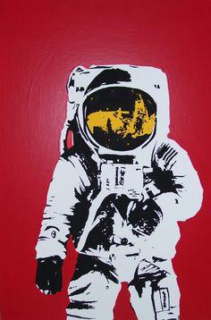 spaceman by zachcherry on DeviantArt Zoo Songs, Tableau Pop Art, Space Cowboys, Sun Art, Stencil Art, Stencils, Crafts For Kids, Craft Kids, Cool Art