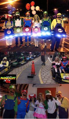 Mario Kart Halloween group costume