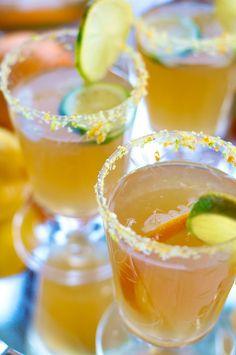 Margaritas with citrus infused salt