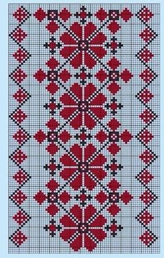 Beading _ Pattern - Motif / Earrings / Band ___ Square Sttich or Bead Loomwork ___ Belarusian ornament Cross Stitch Borders, Cross Stitch Flowers, Cross Stitch Charts, Cross Stitch Designs, Cross Stitching, Cross Stitch Patterns, Folk Embroidery, Cross Stitch Embroidery, Embroidery Patterns