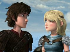 Hiccup and Astrid  Dragons Race to the Edge in Netflix
