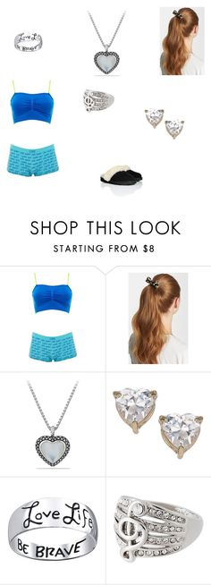 """""""Bed and Jasper's night visit"""" by loovvee ❤ liked on Polyvore featuring Charlotte Russe, L. Erickson, David Yurman, Topshop, Bridge Jewelry and UGG Australia"""