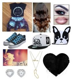 """""""Stay weird Forever<3"""" by jccook-jc ❤ liked on Polyvore featuring Converse and Charlotte Russe"""