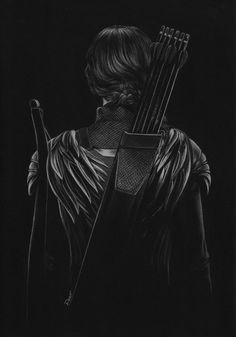 Drawing on black paper is fun if you have the right tool for it. This Estonian Artist, Marilyn, definitely knows his tool. Marilyn, worked on the black paper with a white pencil, where he sketched out. Artemis Aesthetic, Archery Aesthetic, Book Aesthetic, Character Aesthetic, White Charcoal, Black And White, Hunter Of Artemis, Black Paper Drawing, White Pencil