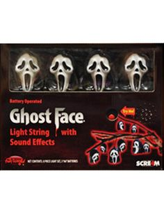 Scream Ghost Face Light Set with Sound
