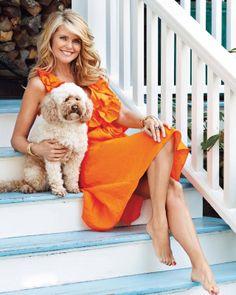 Christie Brinkley Hot   Christie Brinkley and her dog...