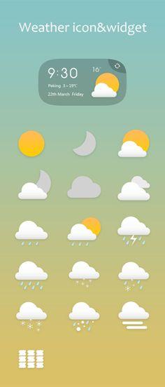 Sunrise-Mobile phone theme design on Behance