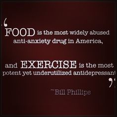 Got rid of the anti depressants and cleaned up my diet and started Crossfitting again, I have never felt better in my life!!!  This quote is so true! I got me back! I'm a better wife, mother, and person!!  Blessed.....