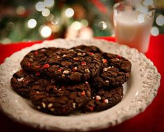 Confessions of a Bake-aholic: Mint Chip Chocolate Cookies Easy Holiday Cookies, Easy Christmas Cookie Recipes, Best Christmas Cookies, Easy Cookie Recipes, Baking Recipes, Christmas Treats, Christmas Christmas, Yummy Recipes, Holiday Recipes