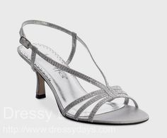 Treasure Women's Dress Shoes and Bridesmaid Shoes in Silver - Wide Width : CSW0271