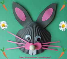 Sea shell easter bunny craft for kids - GENIUS!