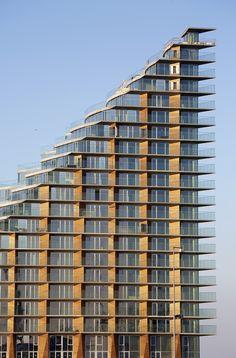 Hundres of balconies and galleries in ultra high performance concrete Aarhus, Balconies, Denmark, Galleries, Concrete, Construction, Architecture, Building, Verandas