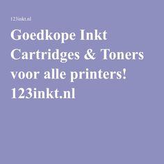 Goedkope Inkt Cartridges & Toners voor alle printers! 123inkt.nl
