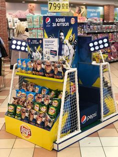 Point Of Purchase, Point Of Sale, Pos Design, Makeup Display, Pos Display, Displays, Pepsi, Football, Creative