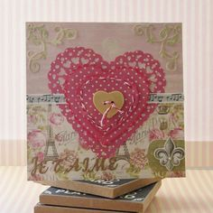 Dovecraft Sweet Paris Je T'aime heart card by Katie, perfect for Valentines day