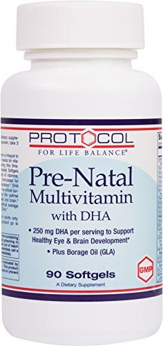 Protocol For Life Balance - Pre-Natal Multivitamin with DHA - Supports Healthy Eye