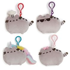 """This 4.5"""" backpack clip brings the bright and beautiful Pusheenicorn to life…"""